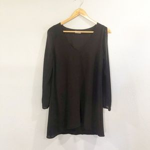 Tobi | Black Sheer Cold Shoulder Blouse